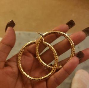 Gold hoop earrings costume jewelry
